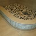 Custom shower curb