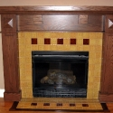 Arts & Crafts Mantel Tile Design
