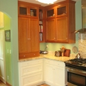 Fir/Painted cabinets