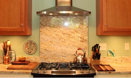 Granite range splash